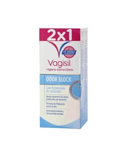 VAGISIL HIGIENE INTIMA ODOR BLOCK DUPLO 250ML.